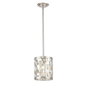 Almet Brushed Nickel One-Light Mini Pendant