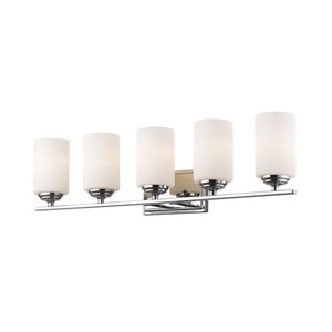 Bordeaux Chrome Five-Light Vanity