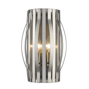 Moundou Brushed Nickel Two-Light Wall Sconce