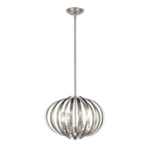 Moundou Brushed Nickel Four-Light Globe Pendant