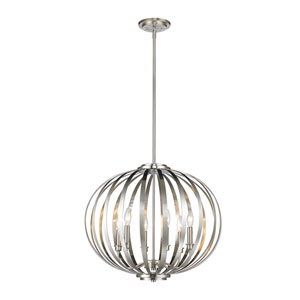 Moundou Brushed Nickel Six-Light Globe Pendant