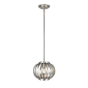 Moundou Brushed Nickel 8-Inch One-Light Mini Pendant