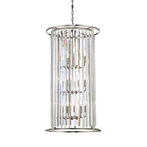 Monarch Brushed Nickel Twelve-Light Pendant
