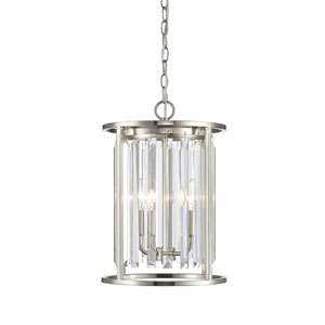 Monarch Brushed Nickel Three-Light Pendant
