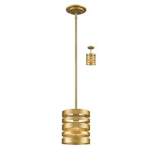 Memphis Satin Gold One-Light Mini Pendant