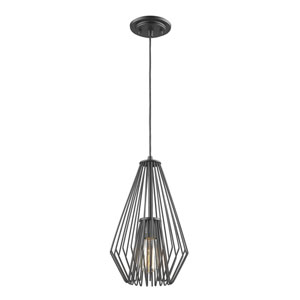 Quintus Matte Black 9-Inch One-Light Mini Pendant