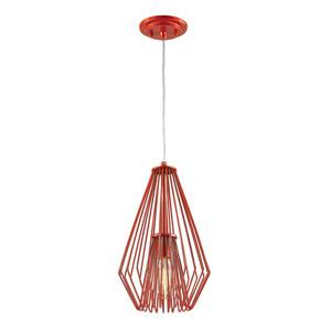 Quintus Red 9-Inch One-Light Mini Pendant