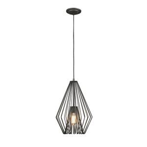 Quintus Bronze 12-Inch One-Light Pendant