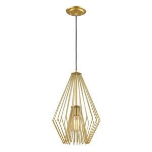 Quintus Metallic Gold 12-Inch One-Light Pendant