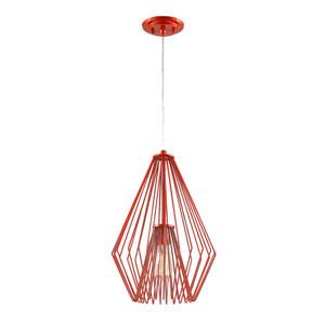 Quintus Red 12-Inch One-Light Pendant