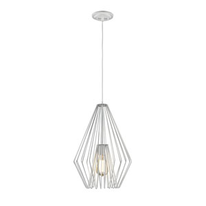 Quintus White 12-Inch One-Light Pendant