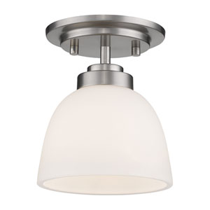 Ashton Brushed Nickel One-Light Flush Mount