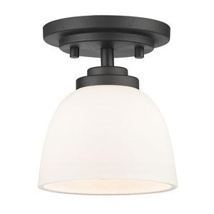 Ashton Bronze One-Light Semi Flush Mount