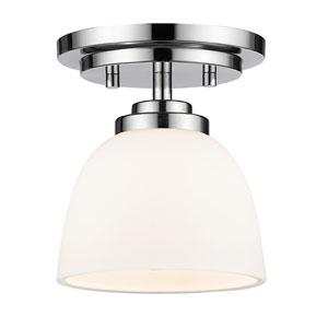 Ashton Chrome One-Light Semi Flush Mount