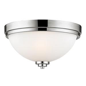 Ashton Chrome Two-Light Flush Mount