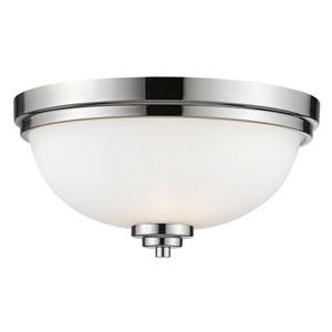 Ashton Chrome Three-Light Flush Mount