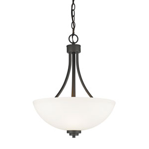 Ashton Bronze Three-Light Bowl Pendant