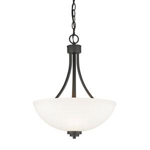 Ashton Bronze Three-Light Bowl Pendant