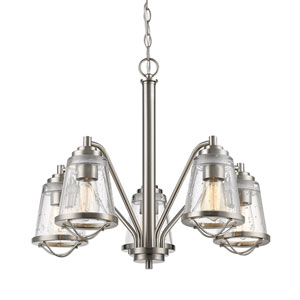 Mariner Brushed Nickel Five-Light Chandelier