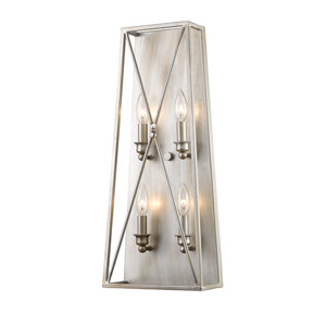 Tressle Antique Silver Four-Light Wall Sconce