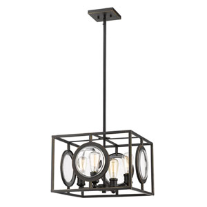 Port Olde Bronze 18-Inch Four-Light Pendant