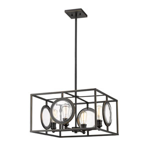 Port Olde Bronze 22-Inch Four-Light Pendant