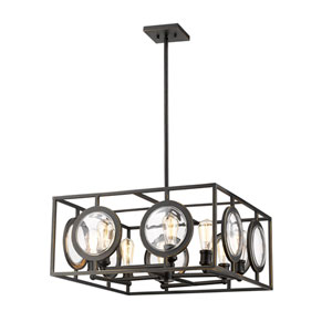 Port Olde Bronze 26-Inch Eight-Light Pendant