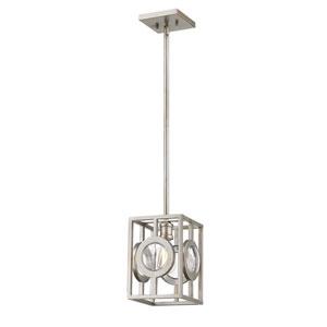 Port Antique Silver 9-Inch One-Light Mini Pendant