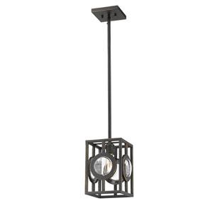 Port Olde Bronze 9-Inch One-Light Mini Pendant
