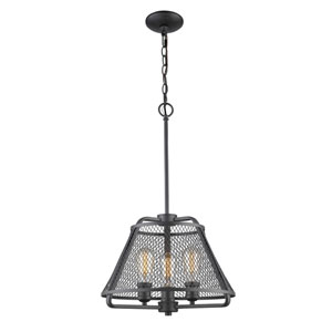 Iuka Bronze Three-Light  Pendant