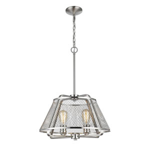 Iuka Brushed Nickel Four-Light  Pendant