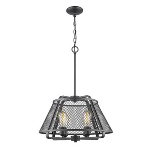 Iuka Bronze Four-Light  Pendant