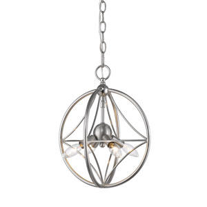 Cortez Brushed Nickel 12-Inch Four-Light  Pendant