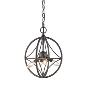 Cortez Bronze 12-Inch Four-Light  Pendant