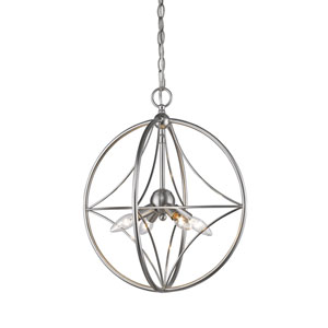 Cortez Brushed Nickel 16-Inch Four-Light  Pendant