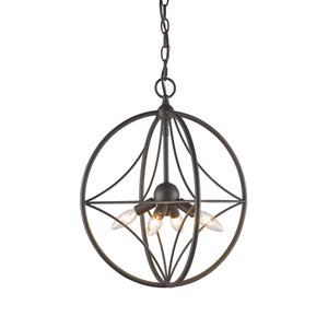Cortez Bronze 16-Inch Four-Light  Pendant