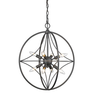 Cortez Bronze 20-Inch Eight-Light  Pendant