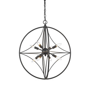 Cortez Bronze 24-Inch Eight-Light  Pendant