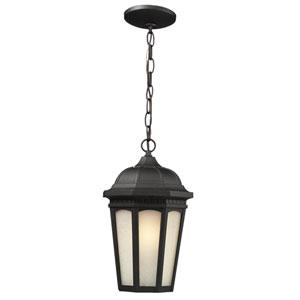 Newport Black One-Light 10.5-Inch Outdoor Pendant