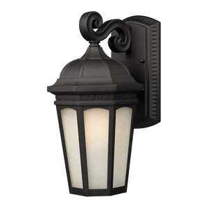 Newport Black 16-Inch Outdoor Wall Light