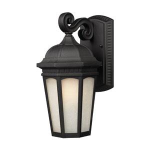 Newport Black 12-Inch Outdoor Wall Light