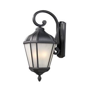 Waverly Black Three-Light Outdoor Wall Mount