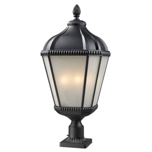 Waverly Black Four-Light 30-Inch Outdoor Pier Mount