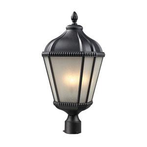 Waverly Black Three-Light 25-Inch Outdoor Post Mount