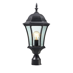 Wakefield Black One-Light 22-Inch Outdoor Post Mount