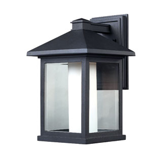 Mesa Black One-Light 16-Inch Outdoor Wall Mount