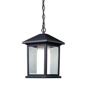 Mesa Black One-Light Outdoor Pendant