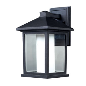 Mesa Black One-Light 14-Inch Outdoor Wall Mount