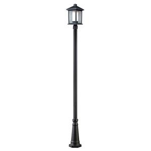 Mesa One-Light Black Tall Outdoor Post Light