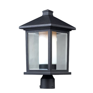 Mesa One-Light Large Black Outdoor Post Mount Light